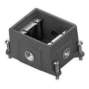 "Wiremold 880CS1-1 Adjustable Floor Box, 1-Gang, Depth: 3-7/16"", Cast Iron"