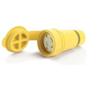 Woodhead 29W47 Watertight Locking Connector, 30A, 125V, L5-30R, Yellow