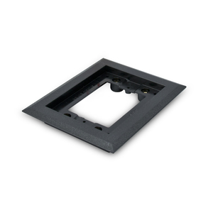 Wiremold 817PCC-BLK Cover Plate Flange, Square, 1-Gang, Black, Non-Metallic