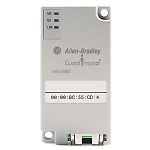 Allen-Bradley 440C-ENET Safety Relay, Guardmaster, Ethernet Plug-In Module, Slot 1 only