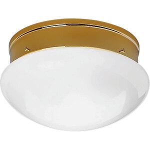 Progress Lighting P3410-10 Mushroom Fixture, 2-Light, 60W, Polished Brass