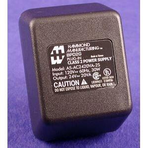 Hammond Mfg BPD2G Power Supply, 120VAC, 24VAC, 20VA, Wall Mount, Overload Protection