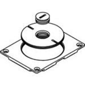 Wiremold 829CK-1/2 Floor Box Cover, 1-Gang, Type: Single Service, Brass