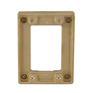 Wiremold 817T Cover Plate Flange, 1-Gang, Metallic, Brass