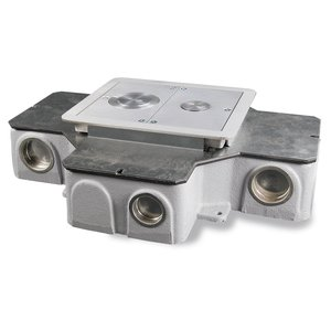 "Wiremold RFB4-CI-1 4-Compartment Combination Box, Depth: 3-7/16"", Metallic"