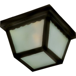 Maxim Lighting 6204FTBK Outdoor Ceiling Light, 2-Light, 60W, Incandescent, Black