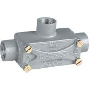 "Hubbell-Killark XT-2 Explosionproof Conduit Body, Type: T, 3/4"" Aluminum"