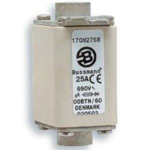 Eaton/Bussmann Series 170M1369 Fuse, 160 Amp Square Body DIN 43-653, 000, Indicator, 690V/700V