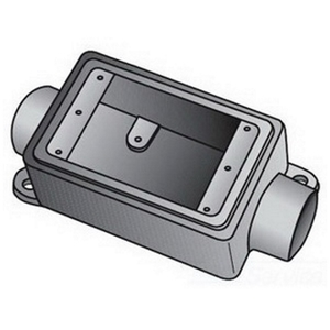 "OZ Gedney FSC175 FS Device Box, 1-Gang, Feed-Thru, Type FSC, 3/4"", Malleable Iron"