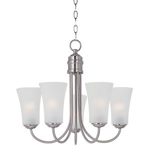 Maxim Lighting 10045FTSN Chandelier, 5-Light, 60W, Incandescent, Satin Nickel