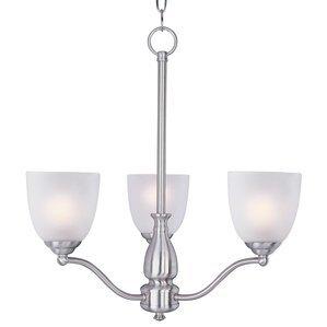 Maxim Lighting 10064FTSN Chandelier, 3-Light, 60W, Incandescent,  Satin Nickel