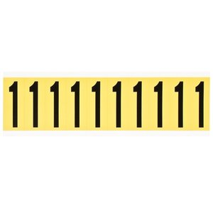Brady 3440-1 34 Series Number & Letter Card