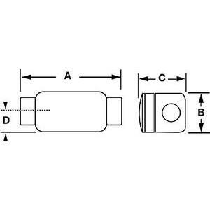 "Hubbell-Killark XC-2 3/4"" C Typeal Haz Loc Fitting"
