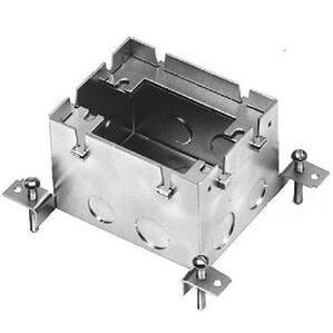 """Wiremold 880S1 Rectangular Floor Box, 1-Gang, Depth: 3-15/32"""", Steel"""