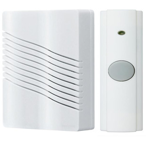 "Nutone LA226WH Wireless Chime, Portable, White, Dimensions: 6"" x 7-5/8"" x 2-1/4"""