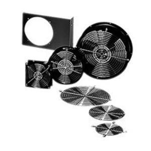 "Hoffman A4AXFN24 Axial Fan, Compact, 4"", 24VDC, 50/60Hz, Black"