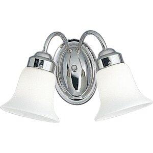 Progress Lighting P3374-15 Bath Light, 2 Light, 100W, Polished Chrome