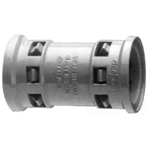 "Kraloy 089000 Coupling, 1/2"", Material: PVC, Gray"