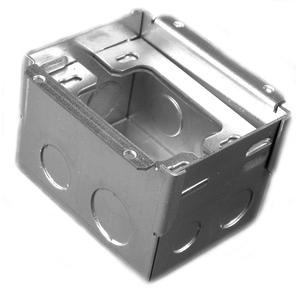 """Wiremold 880W1 Rectangular Floor Box, 1-Gang, Depth: 3-7/16"""", Steel"""