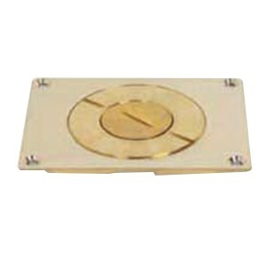 Wiremold 829CK-1 Floor Box Cover, 1-Gang, Type: Single Service, Brass