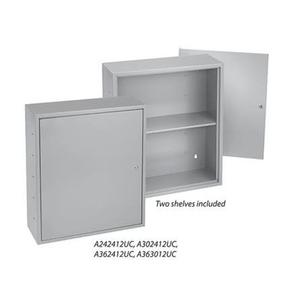 "Hoffman A12122UC Key Cabinet, NEMA 1, Type: Hook Model, Hinge Cover, 12"" x 12"" x 2"""