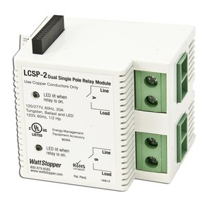 Wattstopper LCSP-2 Modular Relay, Dual, 1-Pole