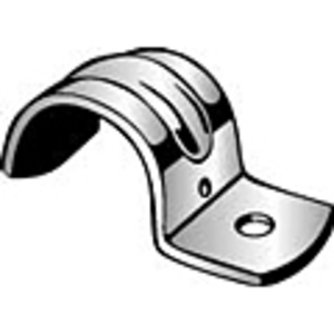 """Minerallac MED60 Pipe Strap, 1-Hole, Size: 1"""", Stainless Steel"""