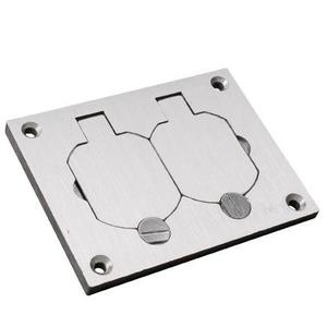 Wiremold 828R-TCAL Duplex Cover Plate, 1-Gang, Brushed Aluminum, OmniBox
