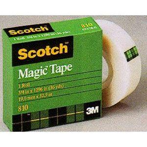 """3M 810 Scotch Magic Tape, 1/2"""" x 36 Yards"""