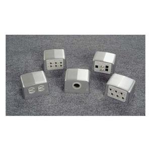 Wiremold 525J Service Box Fitting, Type: Decora/GFI Opening, Metallic