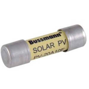 Eaton/Bussmann Series PV-10A10F Fuse, 10A, 1000VDC, Photovoltaic, Solar Rated, Cartridge, 50kAIC