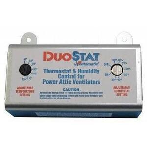 Ventamatic XXDUOSTAT Adjustable Dual Thermostat/Humidistat