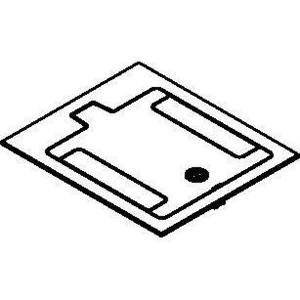 Wiremold RFB119CTCBK Floor Box Cover Assembly, Includes Carpet Cut-Out Area, Aluminum