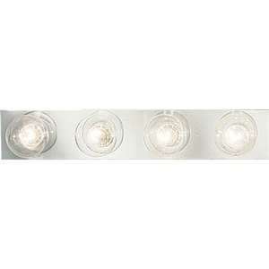 Progress Lighting P3298-15 Bath Light, 4-Light, 60W, Polished Chrome