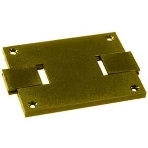 Wiremold 829STC Floor Box Cover, 1-Gang, Type: Dual Service, Brass, Non-Metallic