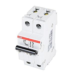 ABB S202-D1 Circuit Breaker, Miniature, DIN Rail Mount, 1A, 2P, 480Y/277VAC