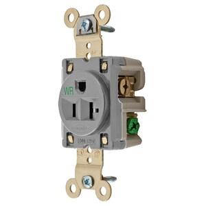 Hubbell-Wiring Kellems HBL5361GRYWR HUB HBL5361GRYWR WR RCPT SING SB HD