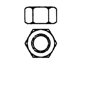 "Power-Utility Products HN-1/2-EG Hex Nut, 1/2"", Zinc Plated Steel"