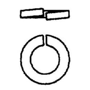 "Power-Utility Products LW-3/8-EG Split Lock Washer, Steel, Electro-Galvanized, 3/8"""