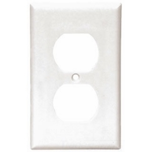 Arrow Hart 2132W-BOX Duplex Receptacle Wallplate, 1-Gang, Thermoset, White
