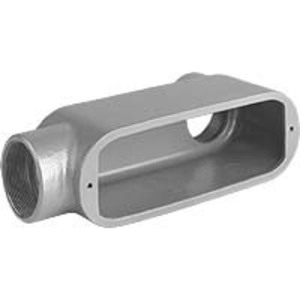 "Hubbell-Killark OLB-4 Conduit Body, Type: LB, Size: 1-1/4"", Series 5, Aluminum"