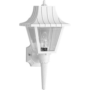 Progress Lighting P5815-30 Wall Lantern, Outdoor, 1-Light, 60W, White