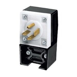 Hubbell-Kellems HBL8421C 3-Pole 4-Wire Grounding, 20A 3PH 250V, 15-20P, Black & White Nylon
