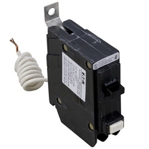 Eaton QBGFT1020 Breaker, Bolt On, 20A, 1P, 120V, 10 kAIC, Ground Fault