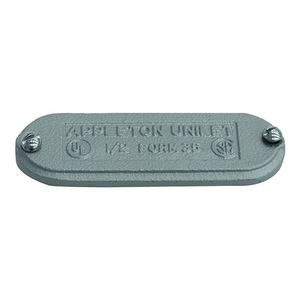 "Appleton K350&400-CM Conduit Body Cover, 3-1/2 to 4"", Type Screw-On, Form 35, Malleable Iron"