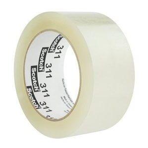 3M 311-CLEAR-48MX100M Scotch Box Sealing Tape, Clear, 48mm x 100m