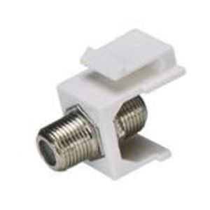 Vericom Global Solutions MKJ81-03434 Snap-In Connector, Keystone, F-81 Connector, 1.5 GHz, White