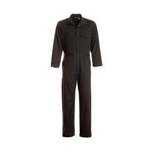 Workrite Uniform 131UT95NB/GE/M/L Work Coverall, 9.5oz, Ultrasoft, Navy, M, Long, GE Logo