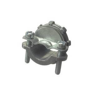 "Halex 05110B Clamp Connector For Non-Metallic Cable, 1"", Zinc"