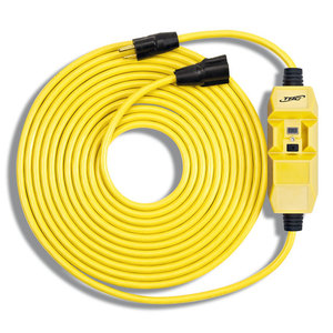 Coleman Cable 26020050-1 In-Line GFCI, Molded-On Plug & Connector, 15A, Auto, 50'